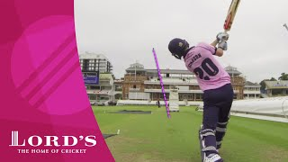 McCullum, Morgan, Simpson & Fuller take on the Lord's Pavilion six hit challenge