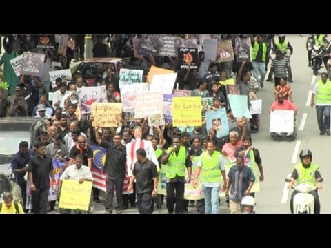 Malaysian Tamils protest Sri Lankan 'genocide'