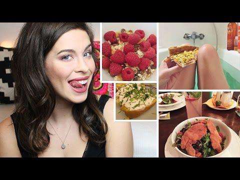Food Diary: Meine Ernährung   Eine Woche   Veggie Bis Fast Food video