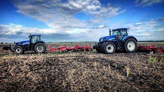New Holland T7.315 AutoCommand HD + Kvenerland Qualodisc 6000 farmer Pregatit pentru scarificat