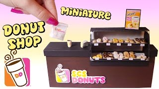 Miniature Dunkin Donuts Inspired Shop Tutorial // Dolls/Dollhouse // SugarCharmShop