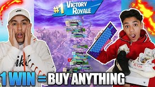 If We Win A Fortnite Scrim Game I Will Buy My Brother Anything He Wants!