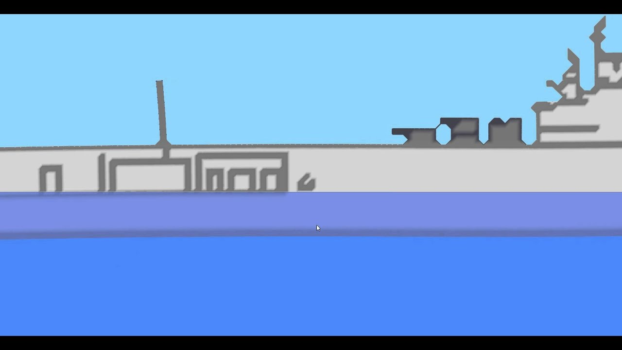 Ship sinking simulator