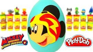 Huevo Sorpresa Gigante de Mickey Aventuras Sobre Ruedas en Español de Plastilina Play Doh
