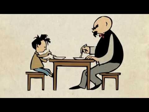 Vater und Sohn - Erziehung mit angebrannten Bohnen