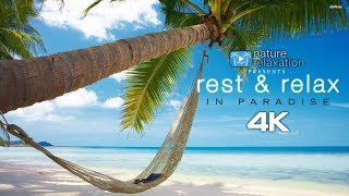 """4K Stress Relief Meditation: """"Rest & Relax in Paradise"""" + Liquid Mind Music"""