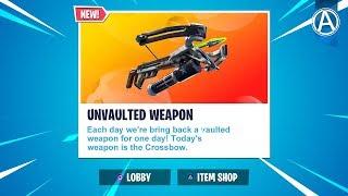 NEW Crossbow UNVAULTED! // 2300+ Wins // Use Code: byArteer (Fortnite Battle Royale LIVE)