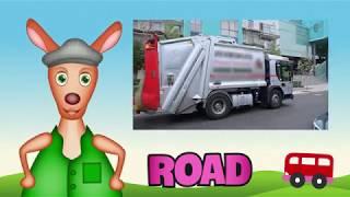 kids learning GARBAGE TRUCK   Truck videos for kids  Preschool & Kindergarten learning