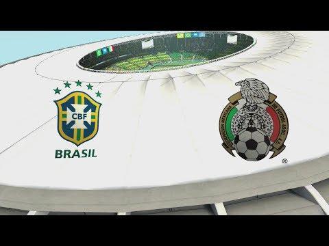 2014 FIFA World Cup Brazil - Brasil vs Mexico - [HD FULL Gameplay]