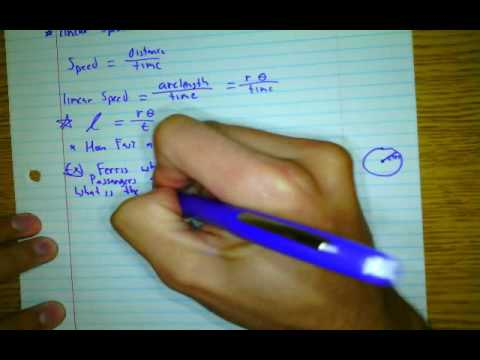 Linear Speed & Angular Speed