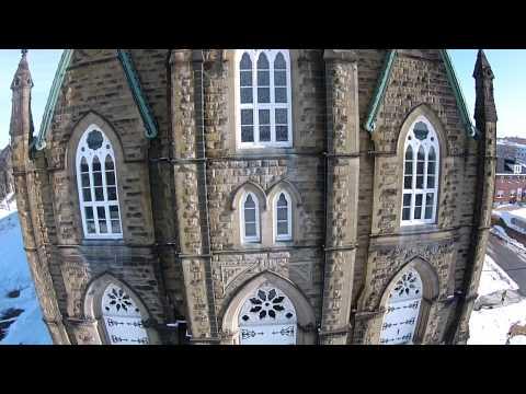 St Michaels Basilica Miramichi NB - Drone