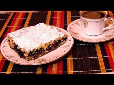 Рецепт Тертого Пирога с Черной Смородиной
