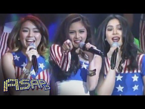 Kim, Julia & Kathryn sing 'California Girls' on ASAP