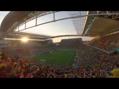 Belgian national anthem @Sao Paulo World Cup 2014