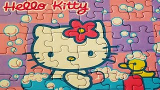 HELLO KITTY Puzzle Games Ravensburger Rompecabezas Play Jigsaw Puzzles Learning Kids Toys Yapboz