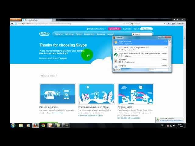 Kako instalirati i napraviti nalog na skype (skajp) HD