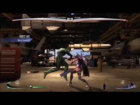 Injustice: Gods Among Us - Green Lantern VS Raven (Story Battle 5) [HD]