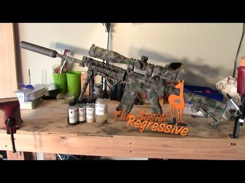 DIY Duracoat USMC MARPAT Woodland Digital Camouflage Paint on RRA AR15   The Social Regressive