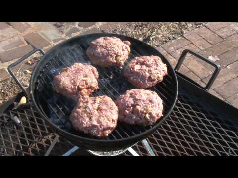 Turkey Burgers with Green Chilis Sausage and Salsa