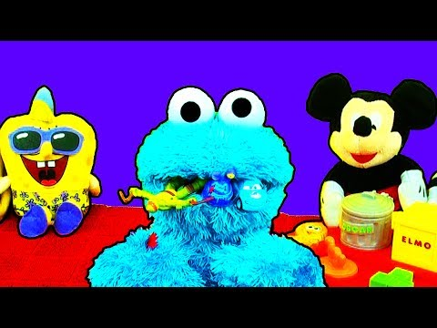 Count N Crunch Cookie Monster Eats Teenage Mutant Ninja Turtles Trash Pack Disney Cars Sesame Street