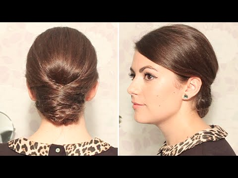 Элегантная прическа на длинные волосы