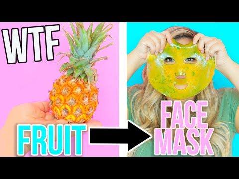 TURNING FRUIT INTO GEL FACE MASKS IN 5 MINS!? TESTED!