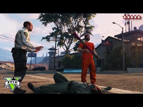 GTA 5 PRISON BREAK & COP CHASE!!! - GTA Online Prison Getaway & Robberies! (GTA PS4 Funny Moments)