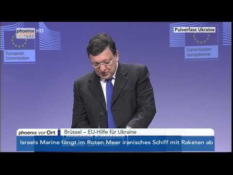 Pulverfass Ukraine - PK mit Manuel Barroso am 05.03.2014