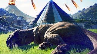 Salvando Os DINOSSAUROS Do VULCÃO, Ilha Nublar Em Perigo! | Jurassic World Evolution (#42) (PT-BR)