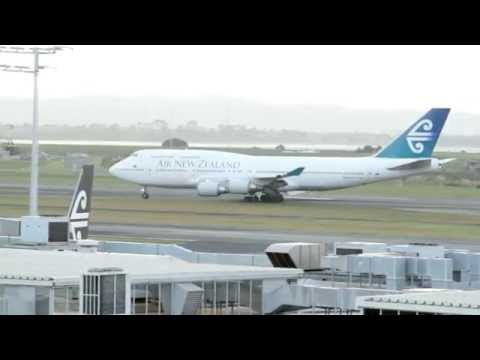Last Flight For Air New Zealand 747-400 queen of the sky