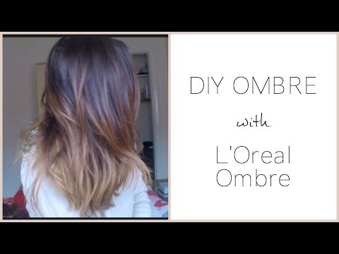 DIY Ombre - Dark Brown Hair - L'Oreal Preference Review