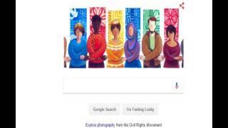 MLK Google Banner End Time Police Violence ISlam Peace Colors Illuminati Freemason Symbolism