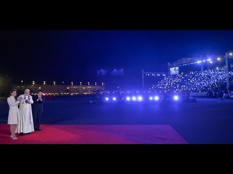 Visita a México de S.S. Papa Francisco. Recepción en el Hangar Presidencial