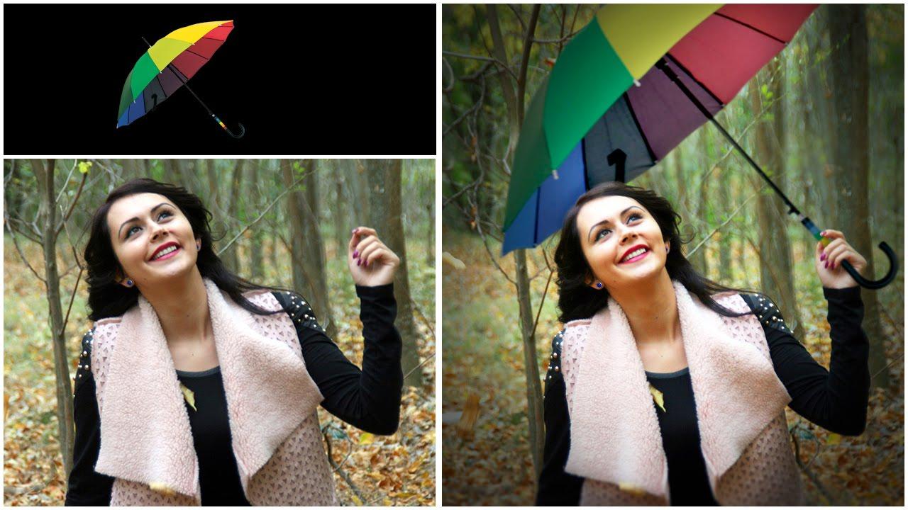 Как сделать один предмет цветным на фото