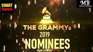 Grammy's 2019 - Nominees | The 61th Grammy Awards 2019 | Feb 10th, 2019 | ChartExpress