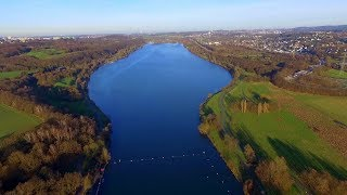Dji Phantom3 Beautiful lake/Germany.Kemnader See Bochum.Summer-Winter