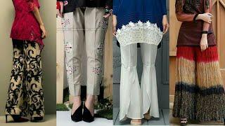 Classy & Trendy Women's Trousers, Pants, Plazo & BellBotom Designs 2019