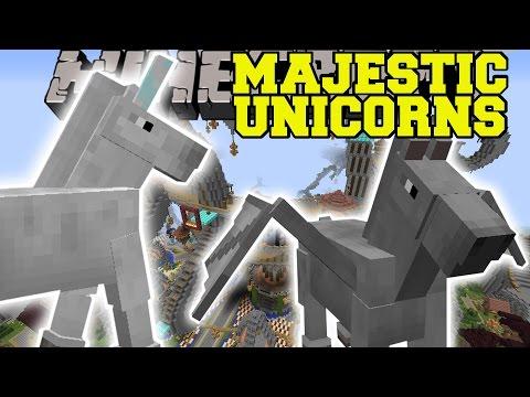 Minecraft: MAJESTIC FLYING UNICORNS MOD (FLY INTO THE SKIES!) Mod Showcase