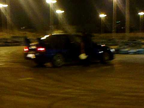 Evo9 GSR practicing / SAM: Hydraulic hand brake@Beirut sports city.MP4
