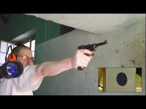 Precision Shooting with Parabellum P-08 Luger BYF-41- 25 meters