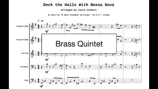 Deck the Halls with Bossa Nova [Album Version] Brass Quintet (BMI)