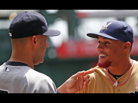 Milwaukee Brewers Carlos Gomez says what Derek Jeter told him about his pink facial hair