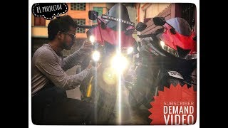 R1 Light on my R15 V3 || how i actually installed it || Best method | is it too costly??