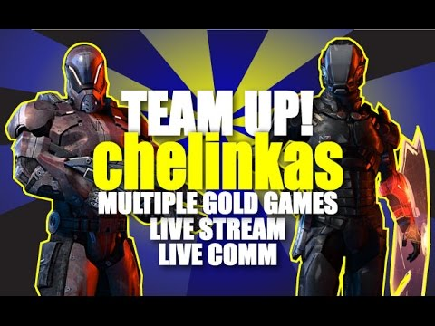 Invading Chelinkas Randoms - LIVE Unknown/Unknown/Gold PUG Games (Mass Effect 3)