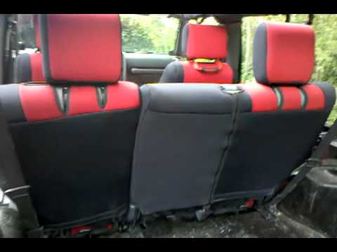 Jeep Wrangler Seat Covers >> 2009 Jeep Wrangler Unlimited CoverKing Seat Covers - YouTube