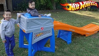 HOT WHEELS Ride On Roller Coaster Backyard Fun Playtime With Ckn Toys