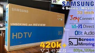 Samsung 32 inch 4 Series   M4100 LED tv    Joy plus features 🔥 🔥 🔥