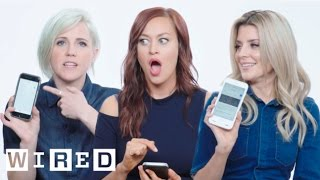 Grace Helbig, Hannah Hart & Mamrie Hart Show Us The Last Thing on Their Phones | WIRED