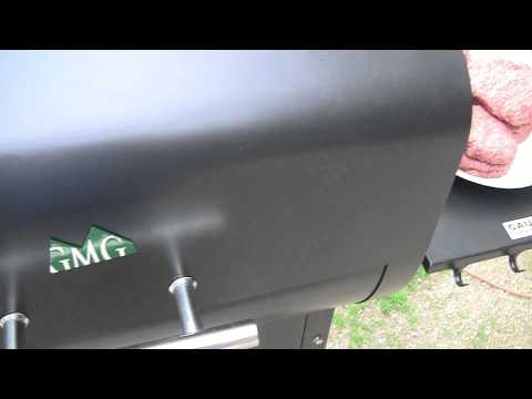 Green Mountain Pellet Grill  (Daniel Boone)  Cooking Burgers