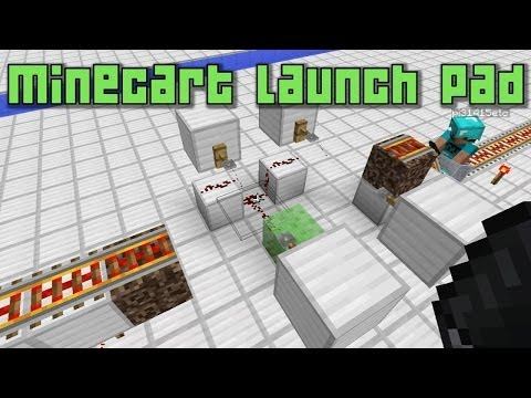 Minecraft 1.8 - Minecart Launch Pad with Slime Blocks